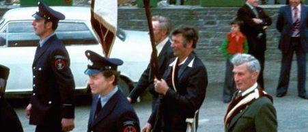 Festumzug zur Fahnenweihe 1977