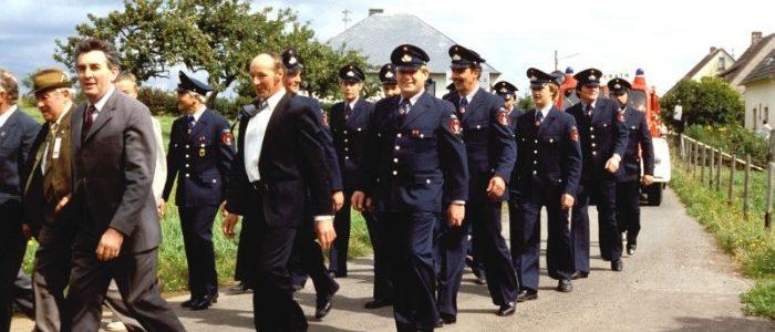 """Festumzug zu """"100 Jahre Feuerwehr Eckfeld"""" 1985"""