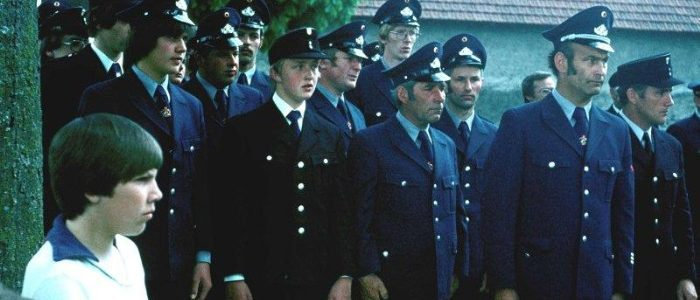 FFW Eckfeld am Ehrenmal 1985
